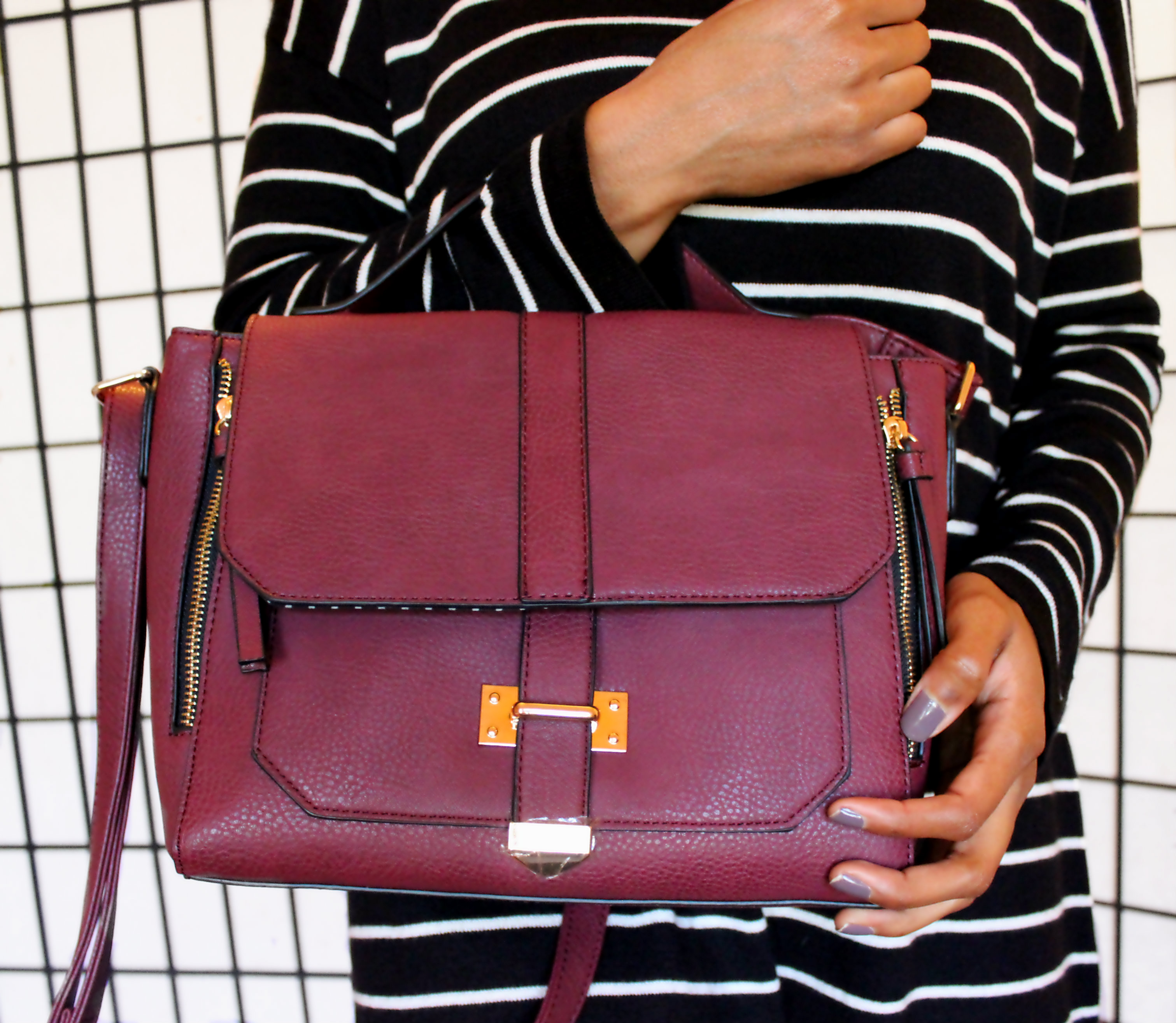 New burgundy purse