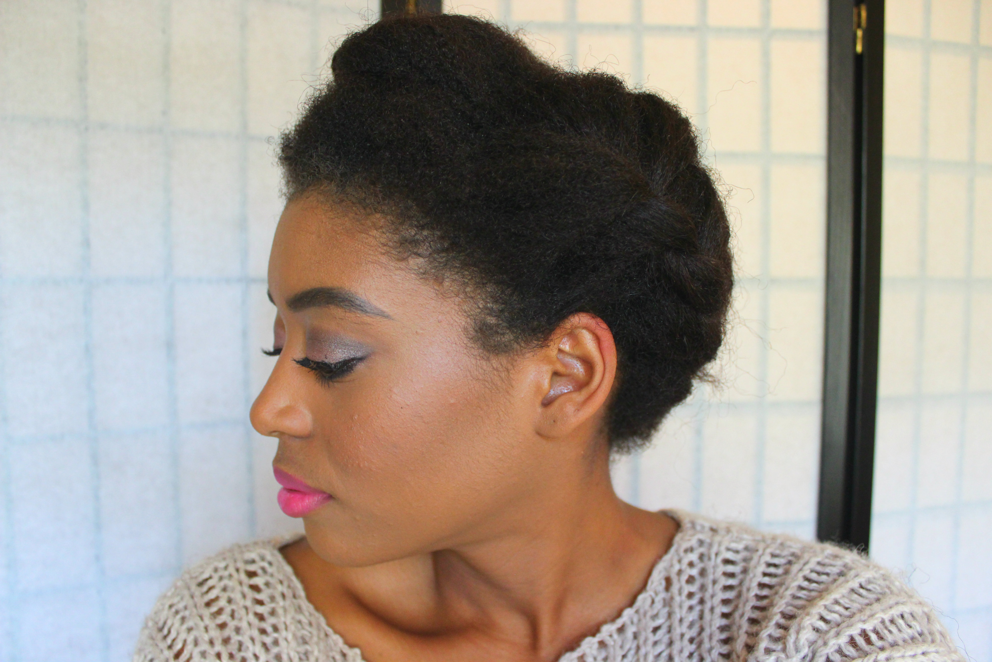 Twisted Crown Braid Updo Black Hair